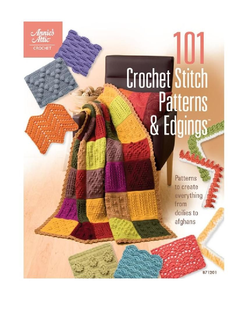 #ClippedOnIssuu from 101 crochet stitch patterns & edgings