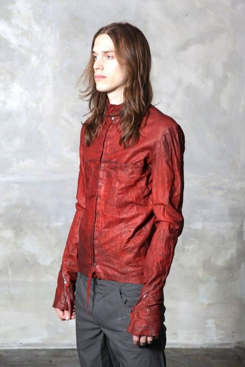 MA+ S/S13 laquer carbon treated biker jacket