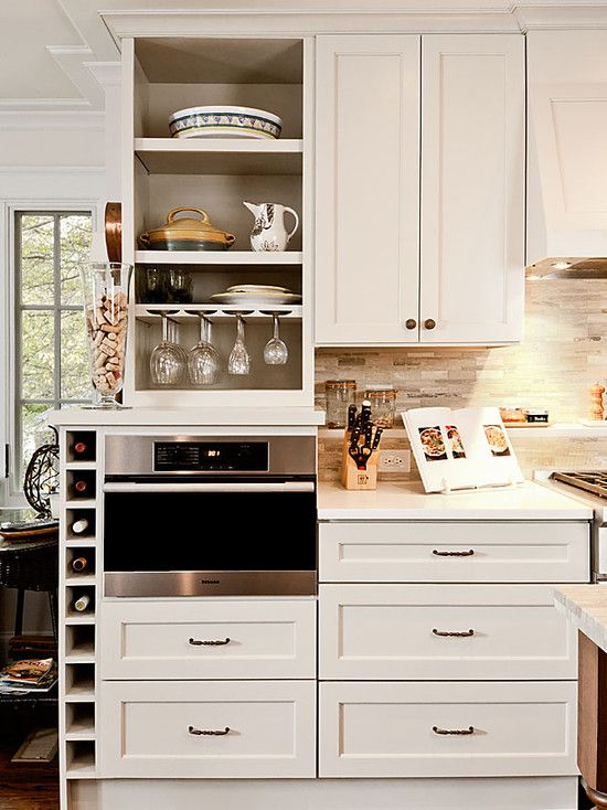 Microwave cabinet and countertop