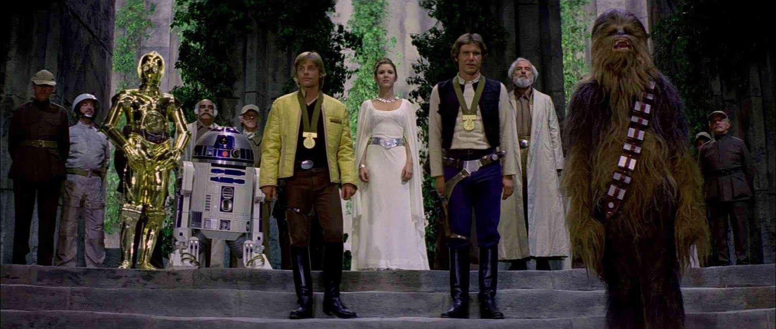 star wars movie scenes | geek with curves: The Final Scenes of Star Wars Films