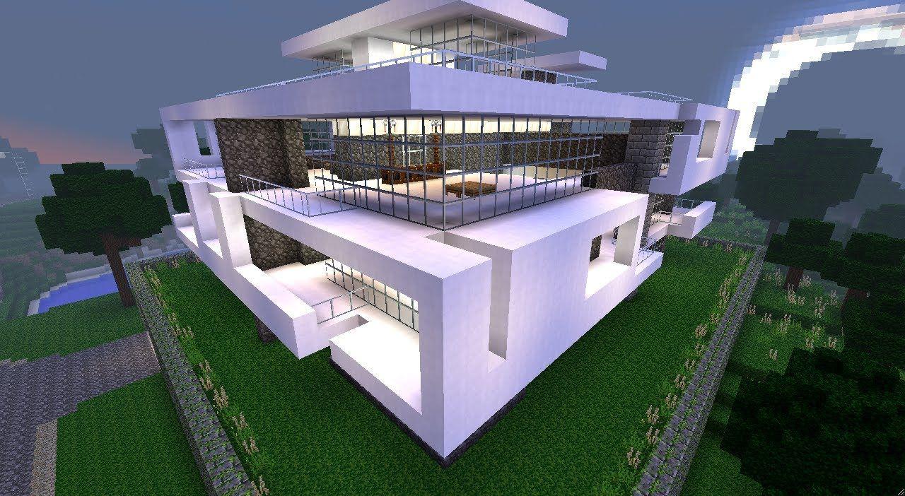 Maison Plus Belle Du Monde Duplex House Design Modern Minecraft Houses Modern Farmhouse Plans
