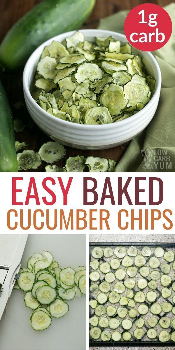 Baked Cucumber Chips Salt and Vinegar
