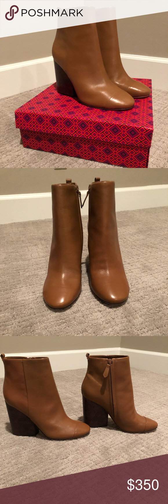 b27baff84e7 Tory Burch Grove Bootie New in box, size 9, Royal Tan, 100MM, Tuniz Calf.  Gorgeous boots! Tory Burch Shoes Ankle Boots & Booties