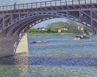 Caillebotte, Le Pont d'Argenteuil et la Seine