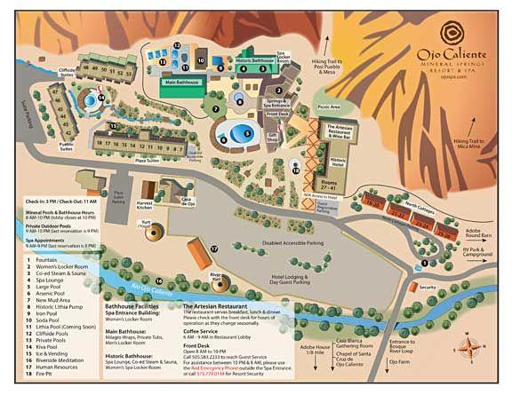 Ojo Caliente New Mexico Map.Ojo Caliente Mineral Springs Spa Nm Travel New Mexico