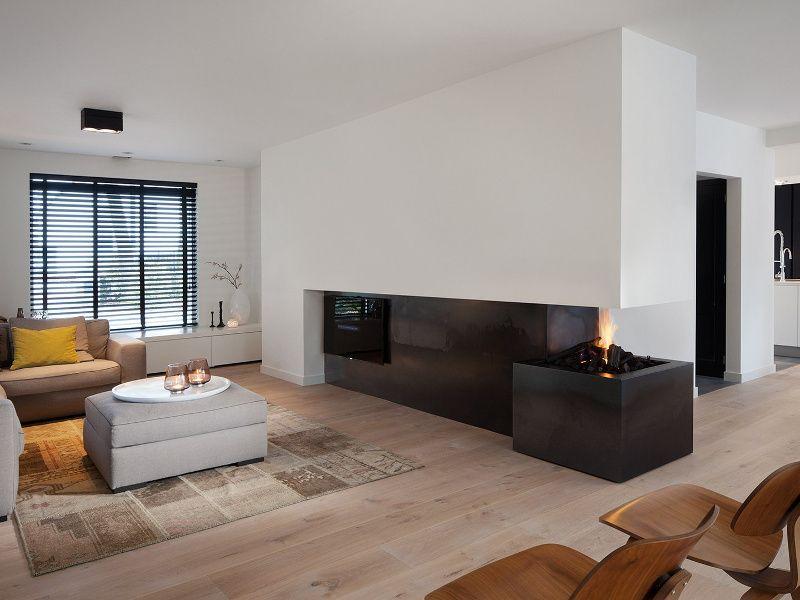 Moderne open haard inspiratie voorbeeld fireplace