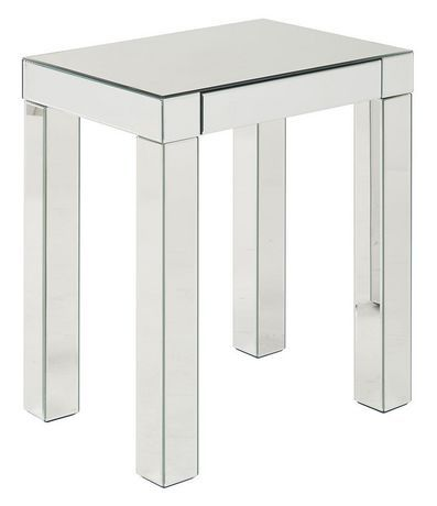 Avenue Six Reflections Mirrored Silver Accent Table
