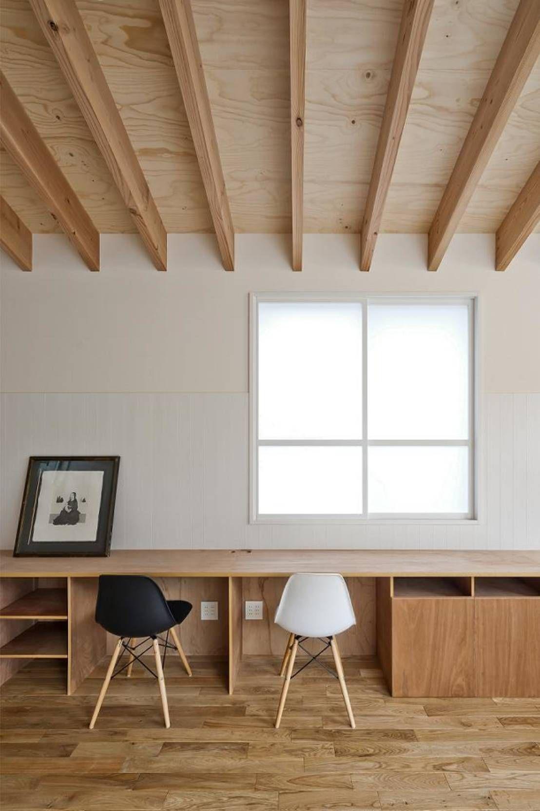 家のどこに作る 書斎レイアウトのまとめ 合板インテリア 内装 書斎 レイアウト