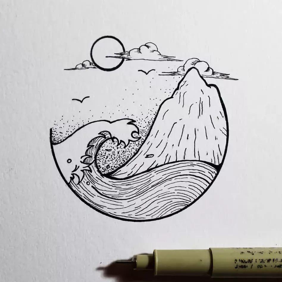 рисунки для срисовки в скетчбук в стиле тумблер: 14 тыс ...