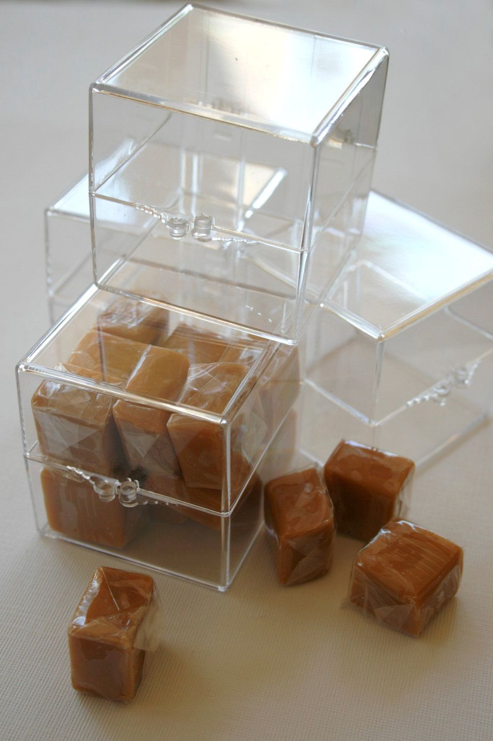 2 Inch Square Clear Acrylic Boxes Favors Or Parties Or Packaging