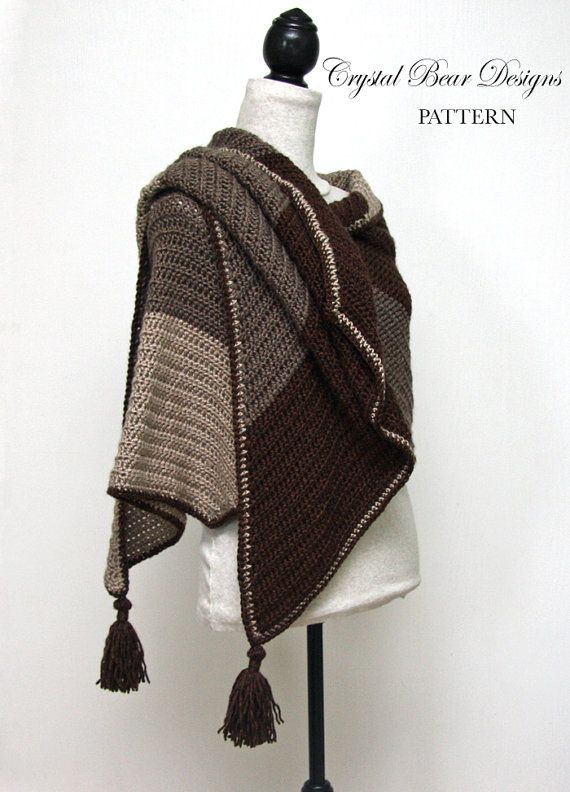 Crochet shawl pattern color block wrap with tassels bias scarf crochet shawl pattern color block wrap with tassels bias scarf blanket scarf made in canada easy crochet pattern canyon ridge dt1010fo