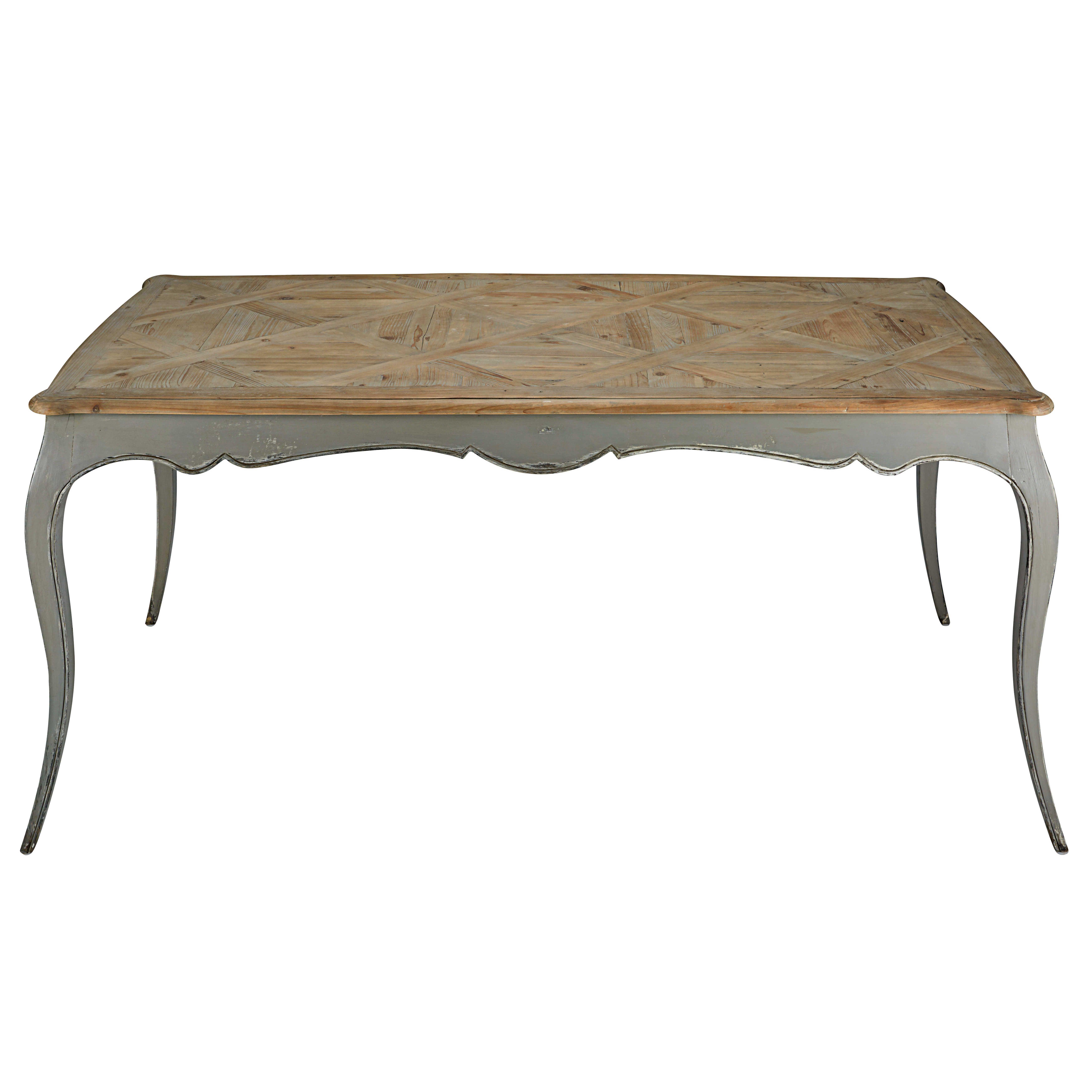 Esstisch Le esstisch aus grauem pappelholz und recyceltem tannenholz l 185 cm