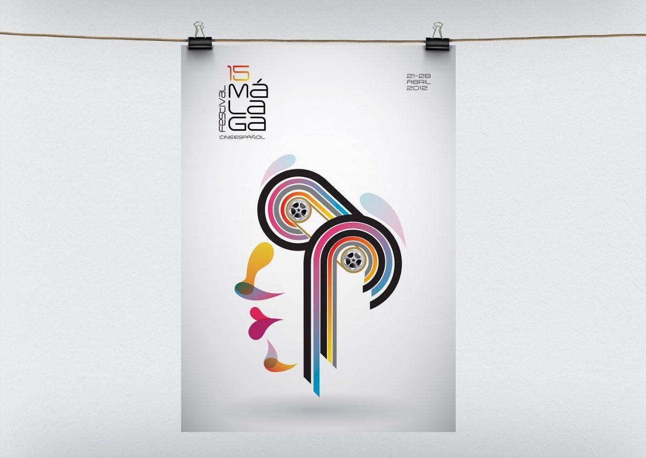 Propuesta Finalista cartel 15 Festival Cine Málaga.