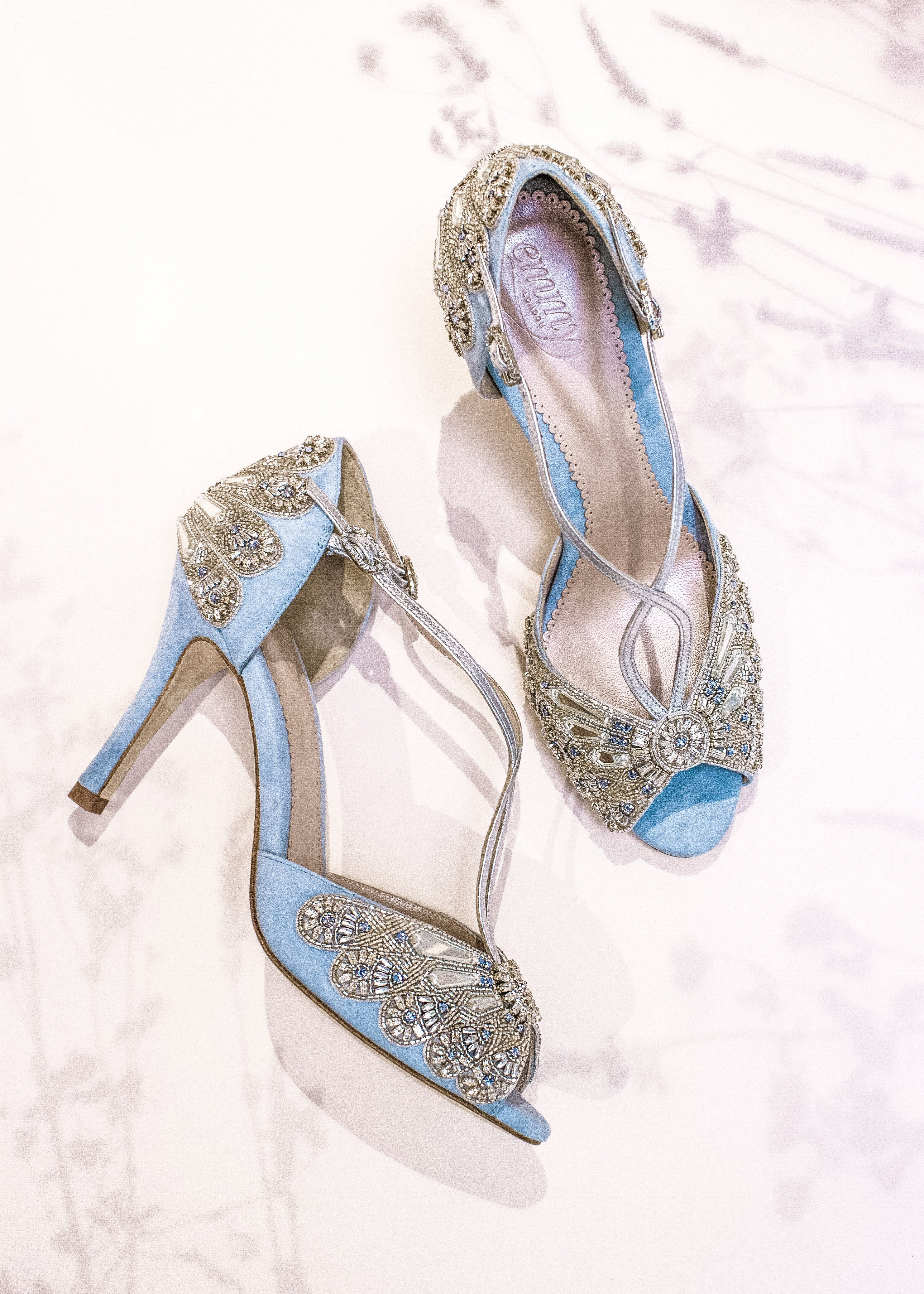 47ae961d02a Emmy London Blue Wedding Shoe Hand made in London