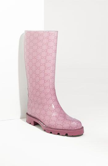 fdc16a24d4c5 pink Gucci rainboot