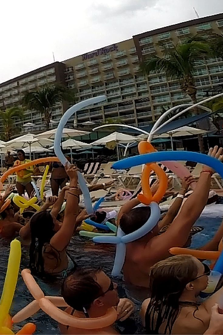 Foam Party At Hard Rock Hotel Cancun Mexico