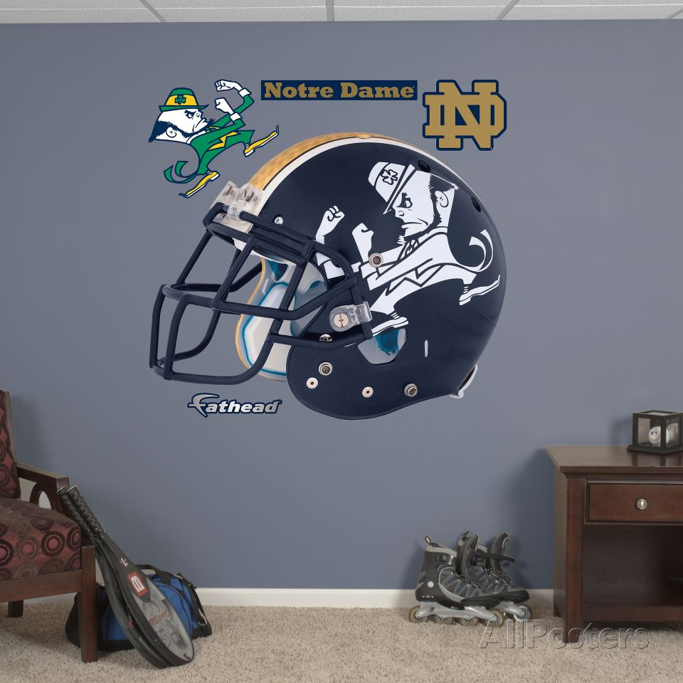 Notre dame leprechaun helmet wall decal at allposters stuff notre dame leprechaun helmet wall decal at allposters amipublicfo Images