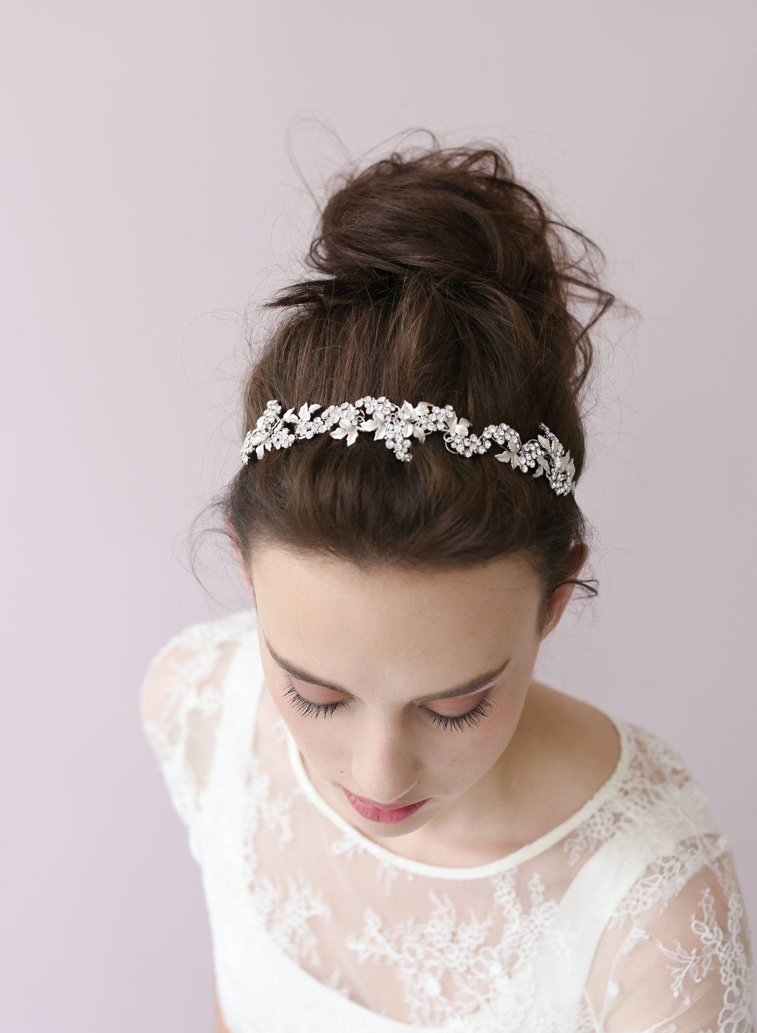 Crystal grape cluster tiara - Style # 403