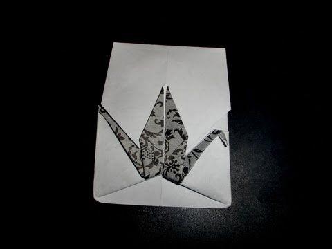 how to make a paper crane (tutorial) origami crane - YouTube | 360x480