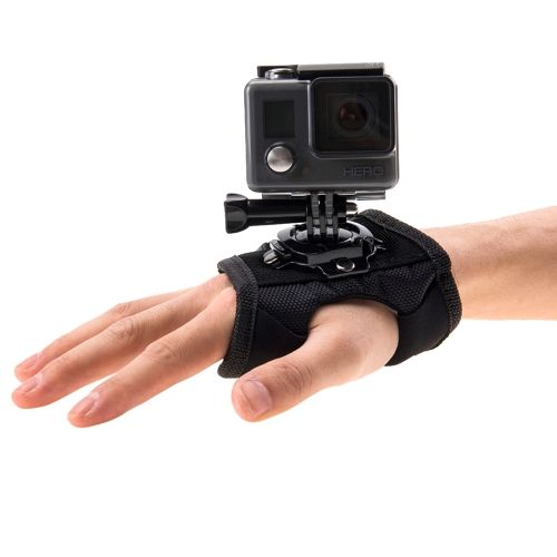 2 21 Puluz 360 Degree Rotation Glove Style Palm Strap Mount Band For Gopro Hero4 Session 4 3 3 2 1 Gopro Camera Accessories Video Camera Accessories