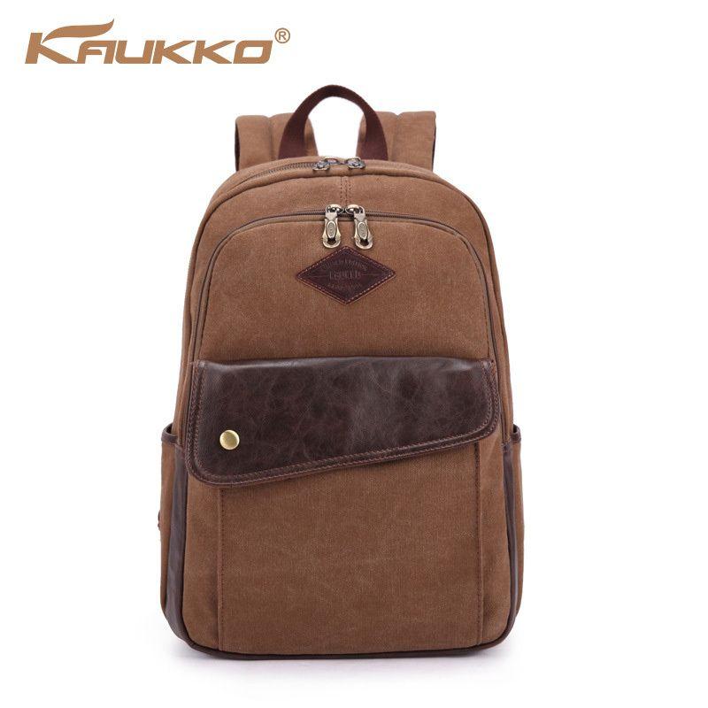 KAUKKO men's backpacks oblique zipper design women college ...