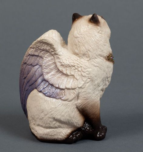 "Windstone Editions ""Siamese Bird Winged Flap Cat"" Figurine 