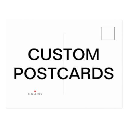 Custom Personalized Matte Postcard Blank Template  Save The Date