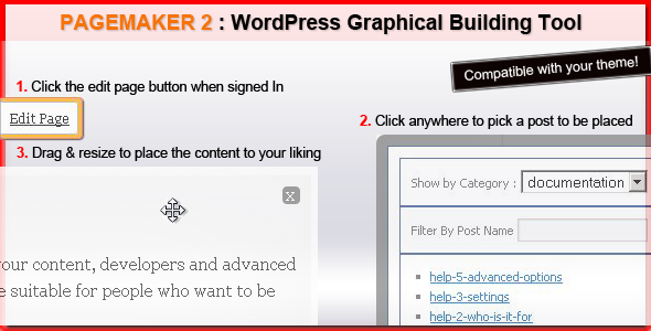 pagemaker 2   live editing in your theme