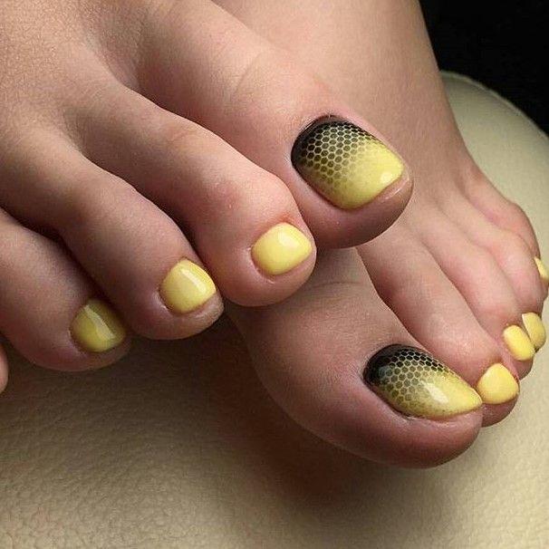 Yellow Toe Nail Art Toe Nails Toe Nail Designs Nail Designs