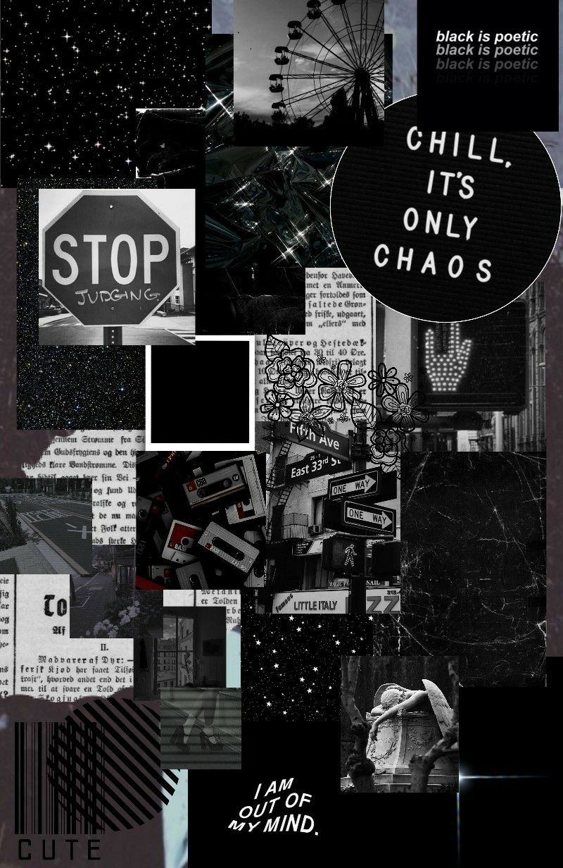 Pin by 𝕹𝖎𝖆 on Wallpapers | Black aesthetic wallpaper ...