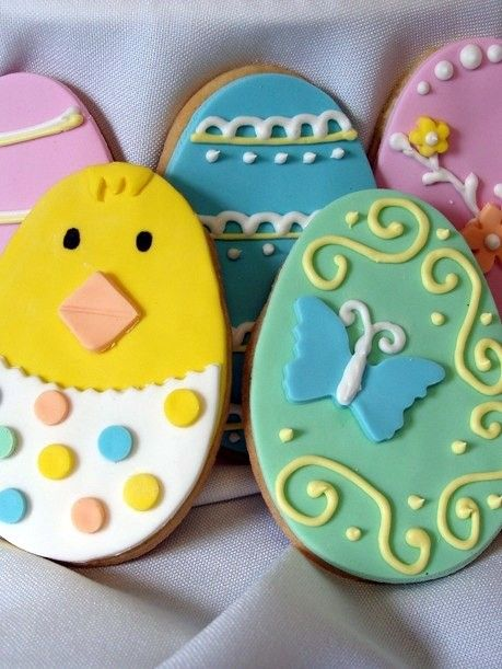 Easter Egg Cookie Inspiration Cute Easter Egg Cookies