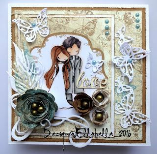 Tiddly Inks, Love, Wedding, Hochzeit, card, karte