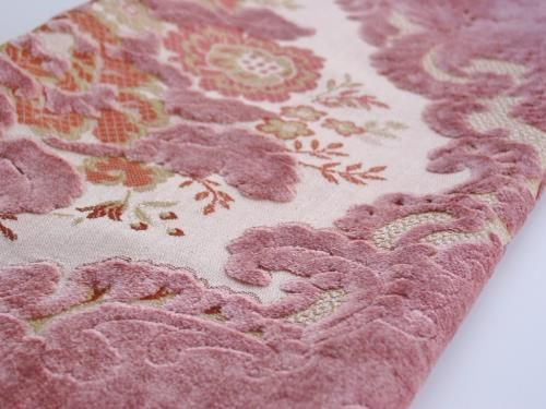 Vintage Lavender Pink Cut Velvet Brocade For The Home Fabric