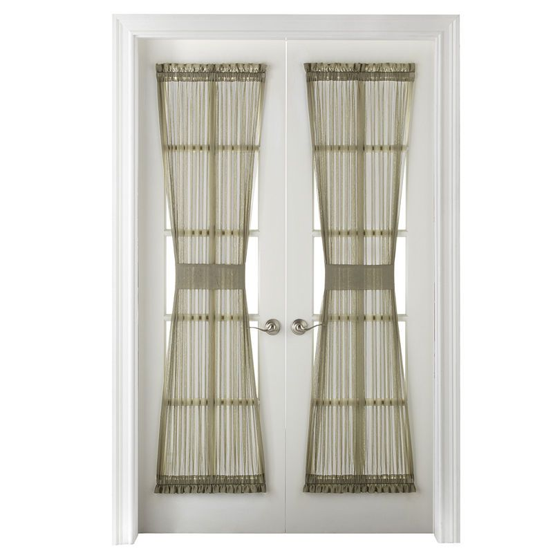 Home Expressions Crushed Voile Rod Pocket Door Panel Curtain