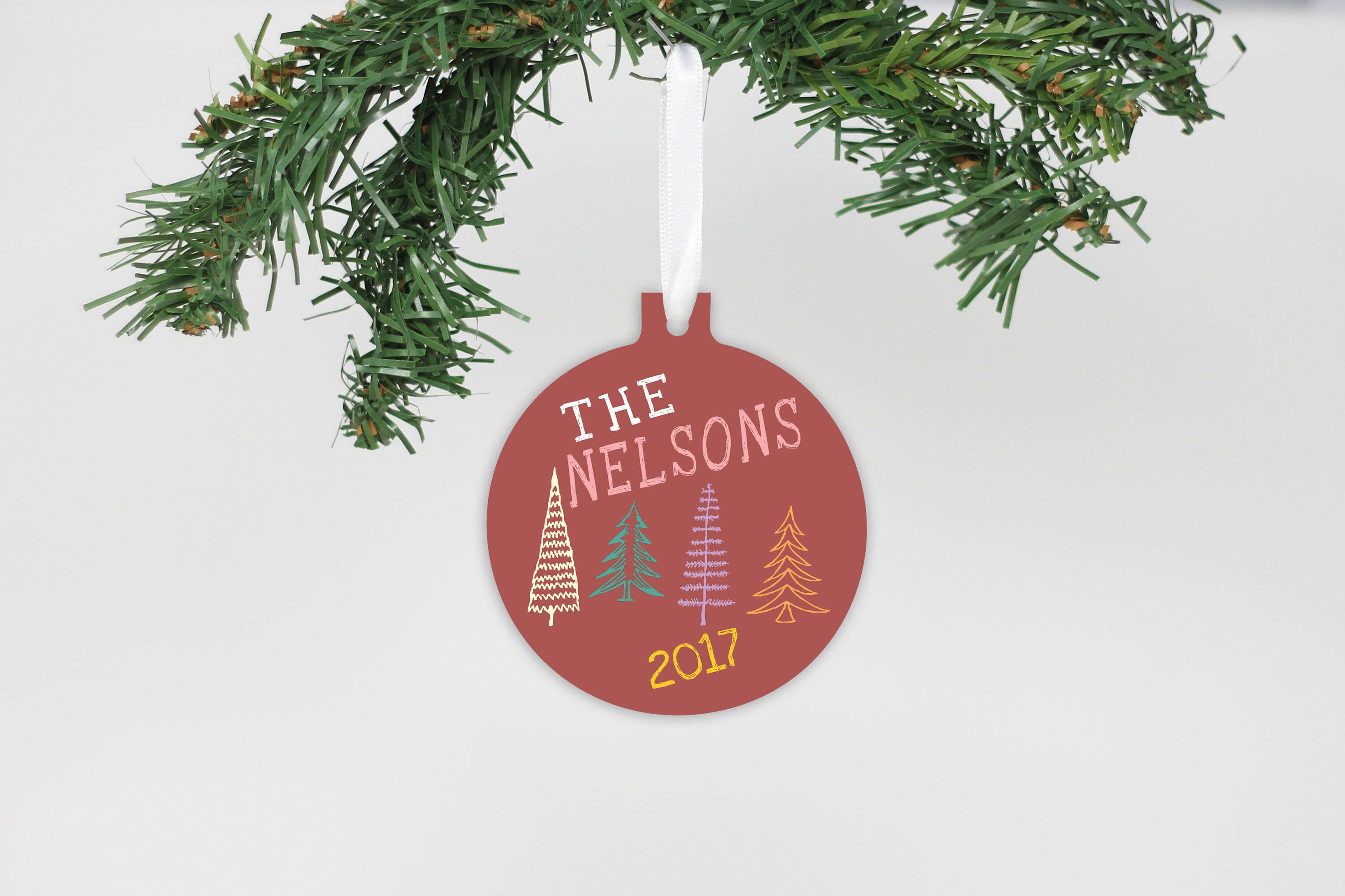 Family Christmas Ornament, Teacher Ornament, Christmas Tree, Metal Ornament, Personalized Ornament, Custom Ornament --60020-OR62-600
