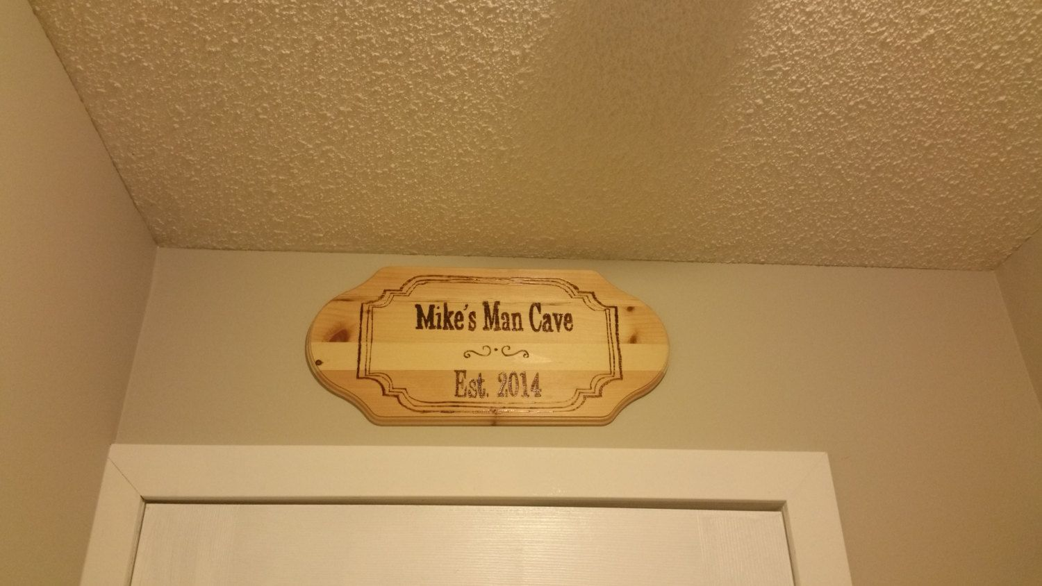 Personalized Man Cave Signs Etsy : Personalized man cave sign wood burned by burningembersigns