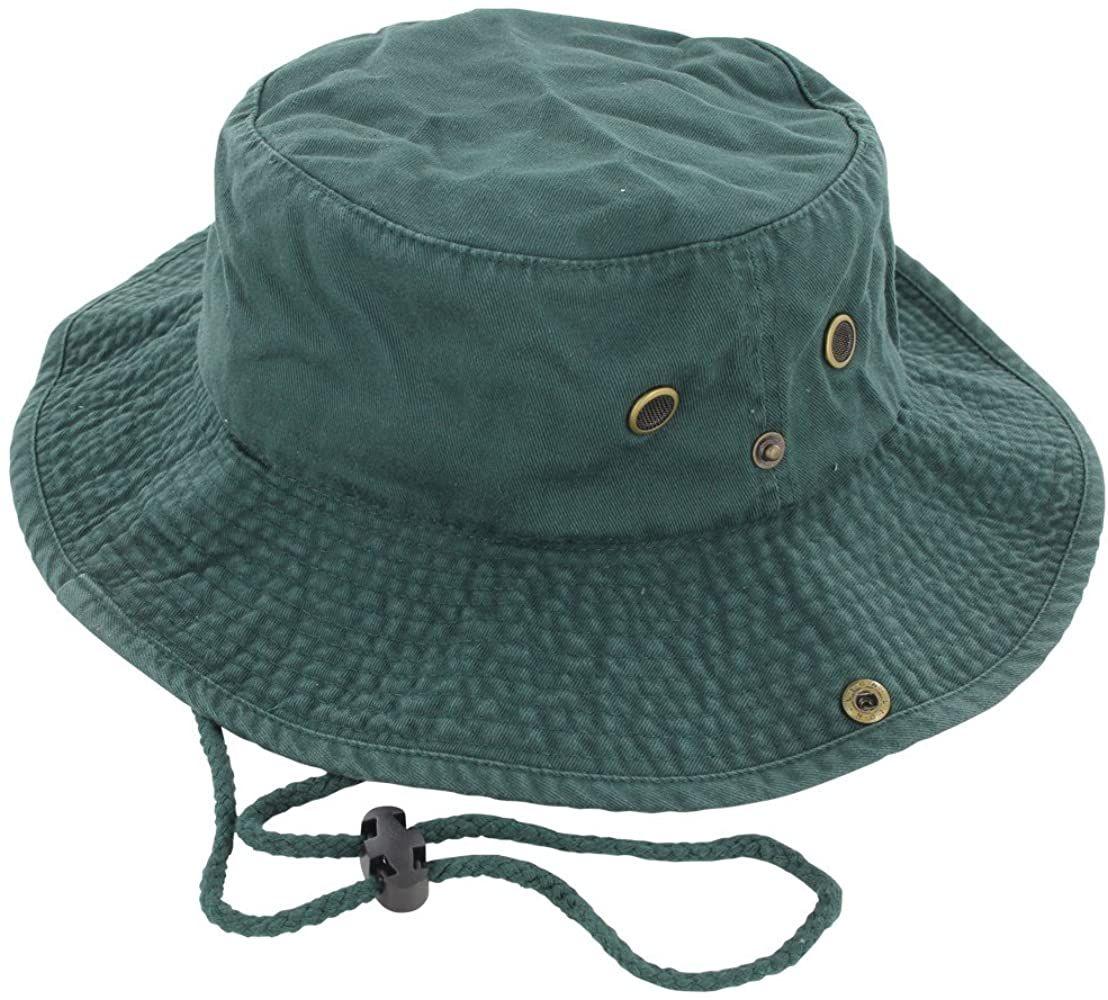 Easy-W Dark Green 100/% Cotton Hat Cap Bucket Boonie Unisex