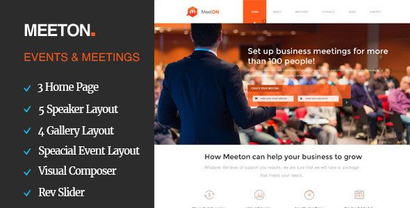 download meeton conference event wordpress theme themespotz