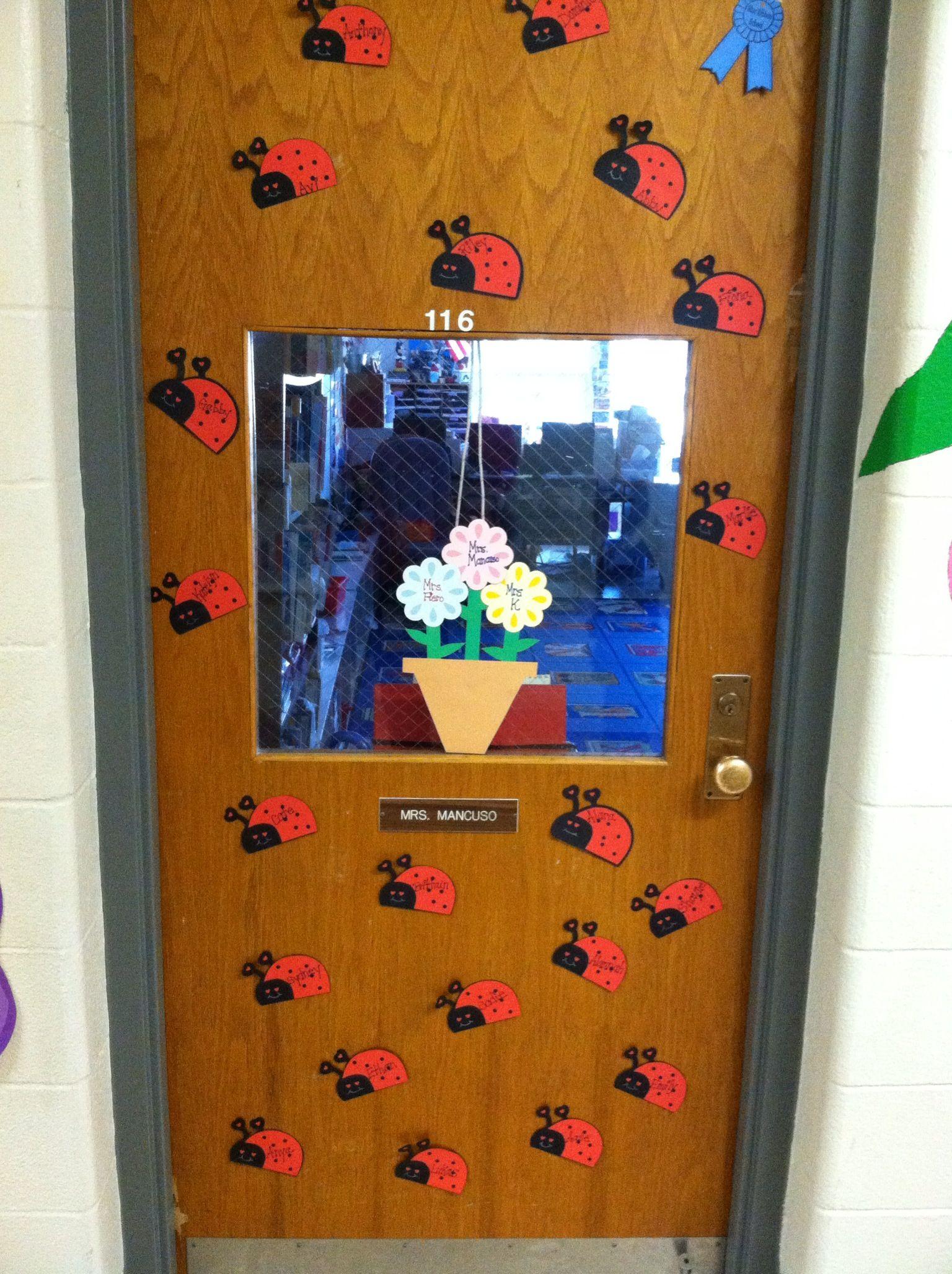 April Ladybug Classroom Door