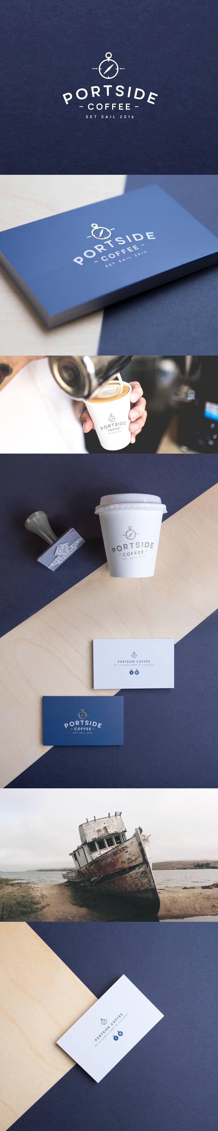 Portside Coffee – Currumbin, Gold Coast. Cafe Coffee - Logo ...