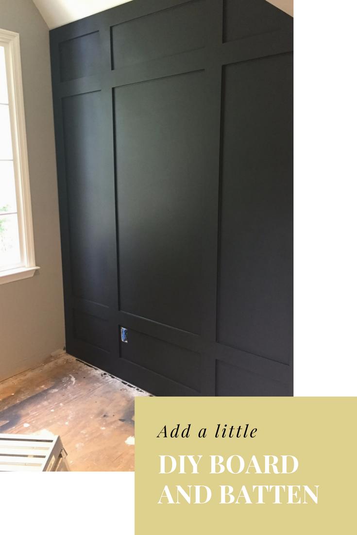 Diy Board And Batten Bonus Room Makeover Black Accent Walls Board And Batten Living Room Remodel