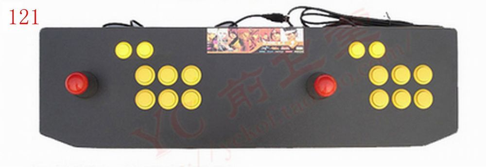 Details about Double Fighting Stick Arcade Game Joystick 4 6