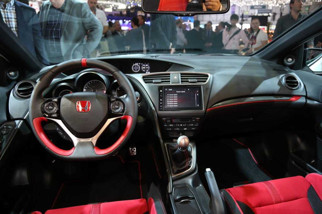 2017 Honda Civic Type R Dashboard And Steering Wheel Honda Civic Honda Civic Type R Honda Civic Si