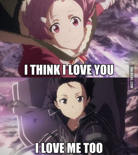 Telling My Crush I Love Him And He Responds Sword Art Online Kirito Online Art Sword Art Online