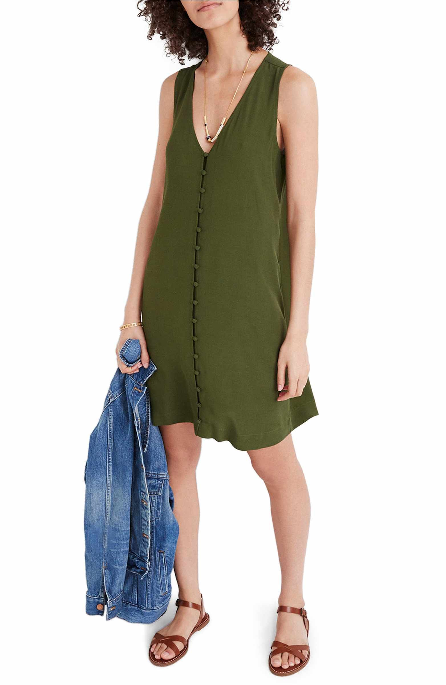 e892c86a55f Main Image - Madewell Heather Button Front Dress