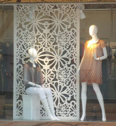 Continental clothing store decoration simple partition MDF ...
