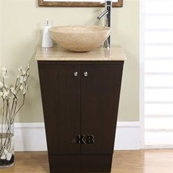High Quality 22 Bathroom Vanity Cabinet With Vessel Stone Sink