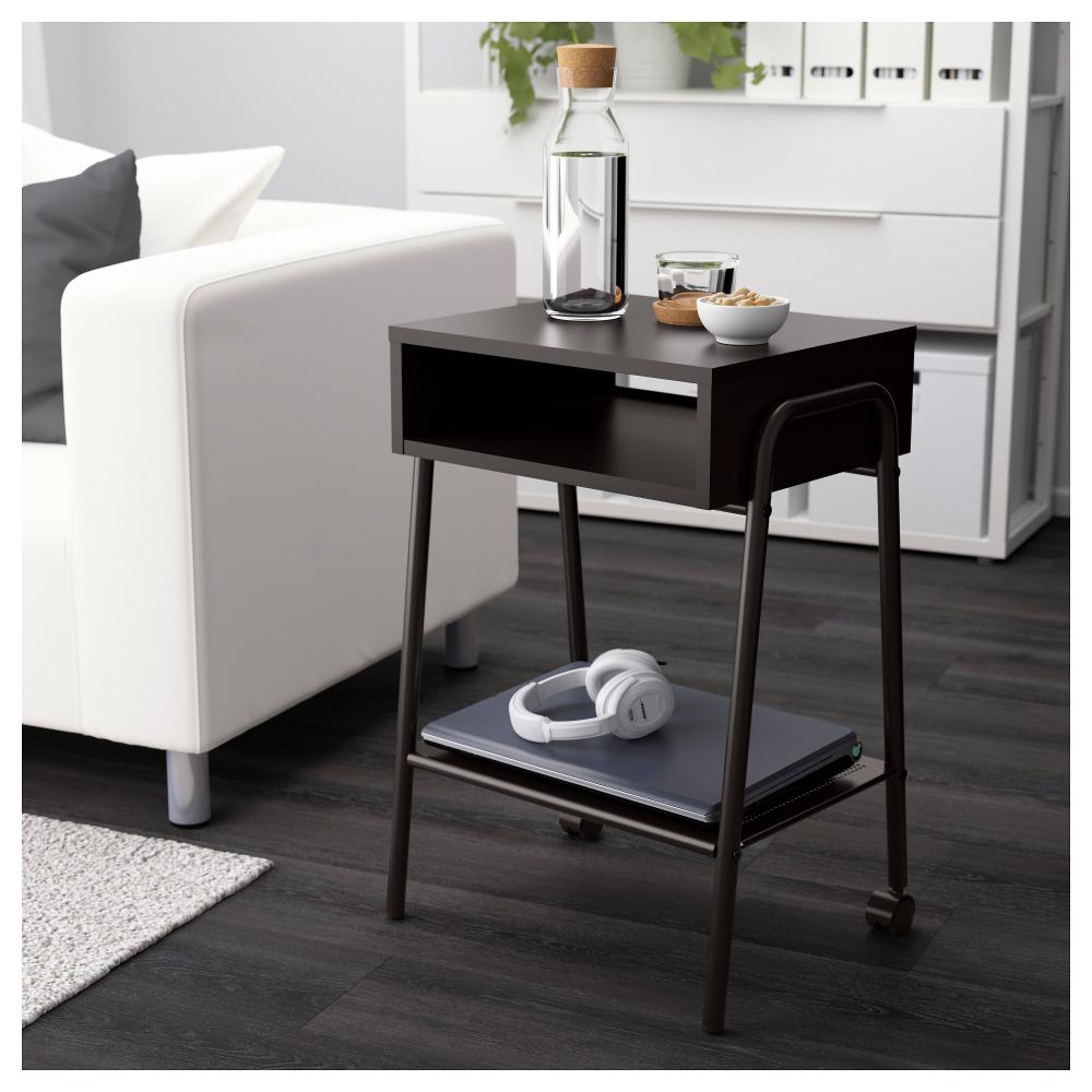 Setskog Nightstand Black 17 3 4x13 3 4 Ikea Black Bedside Table Ikea Nightstand [ 1000 x 1000 Pixel ]