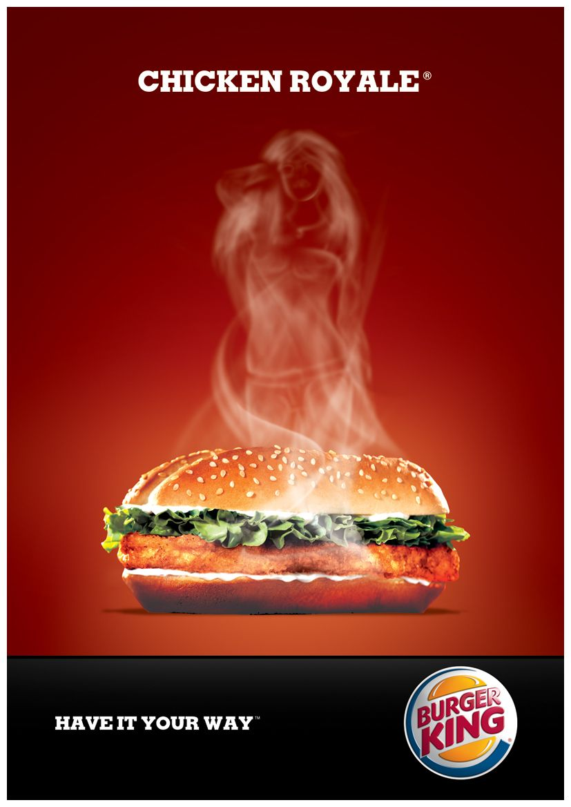 Burger King ad, of course the steam has to form a female ...
