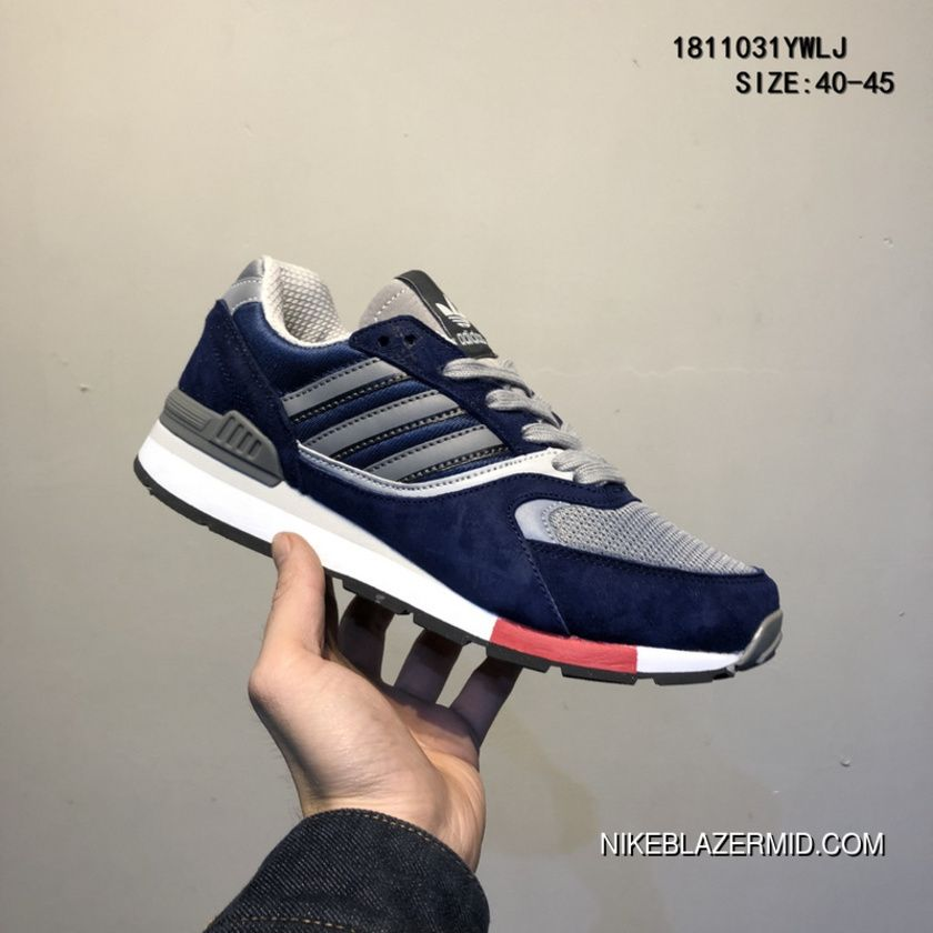 Adidas Quesence Originals Retro Casual Sport Running Shoes Pig Leather Making Online